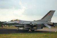 F-16, Dänische Luftwaffe, Vliegbasis Gilze-Rijen, Niederlande, 6. Juli 2002