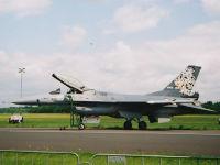 F-16, Kgl. Niederländische Luftwaffe, Vliegbasis Twenthe, Niederlande, 20. Juni 2003